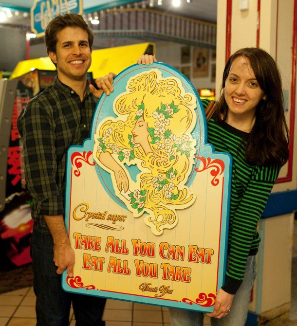 """The sign that hung behind the buffet at Crystal's will hang in Markus and Lilly Neubauer's kitchen, keeping their memories of what some called the """"hometown Disneyland"""" fresh."""