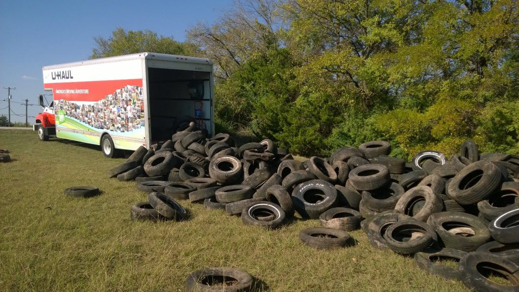 A photo of illegal dumping captured by a Dallas City Marshal's camera.