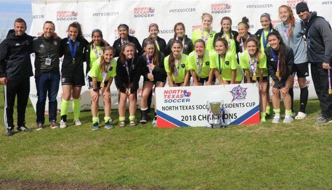 16-Under Girls Champions: Mutiny FC 02 White