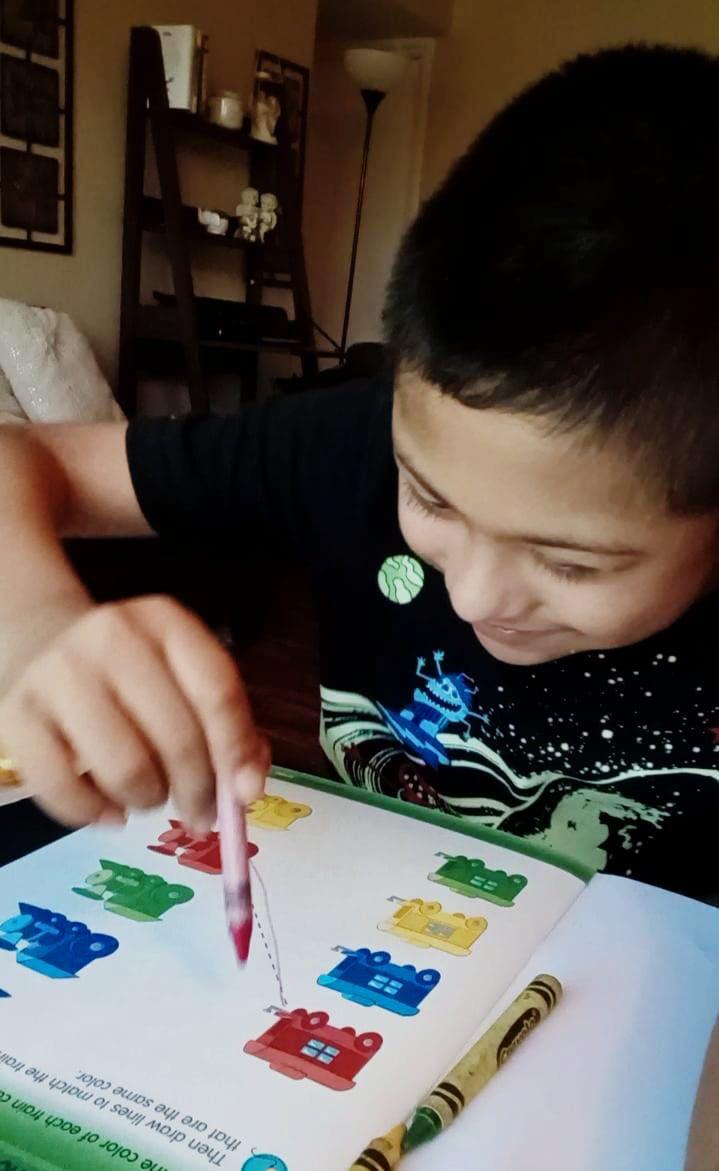 Joaquín Martínez Puebla, 11 años. Estudia en la escuela Reinhardt del DISD y tiene síndrome de Down.