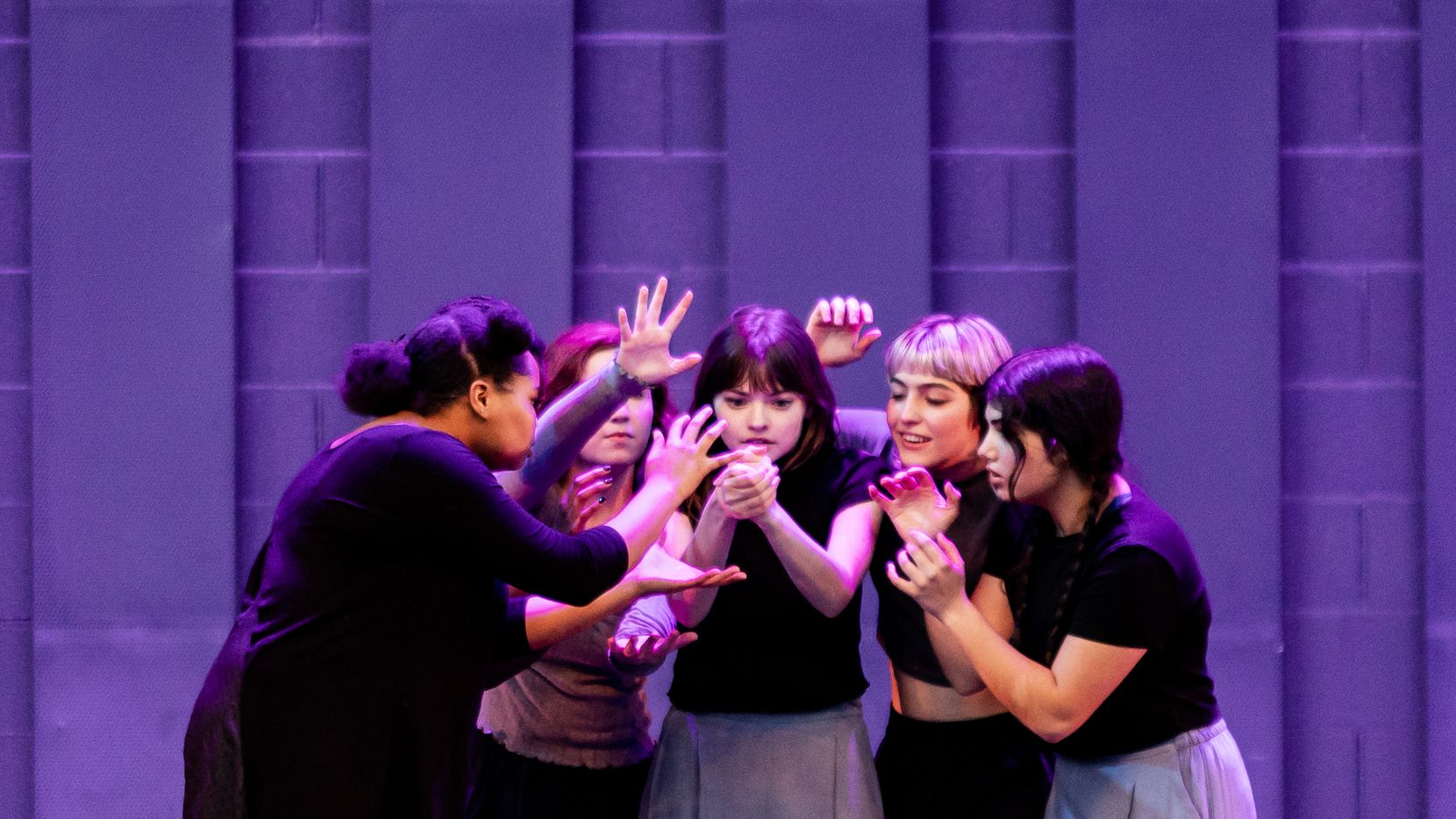 """Cry Havoc Theater Company performs a preview of """"Committed: Mad Women of the Asylum"""" in the Dallas Arts District."""