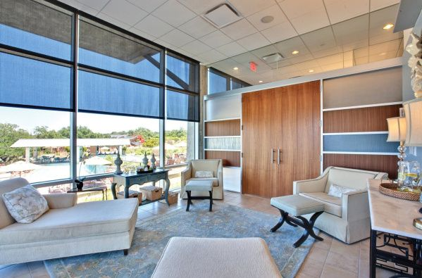 Relaxation areas at Lakeway Resort's San Saba Spa provide sunny views of Lake Travis. Lakeway is another property owned by Ashford Hospitality Trust.