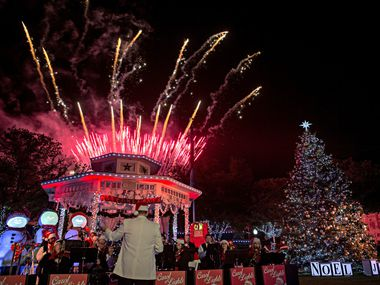 Fireworks explode during the Carol of Lights in Grapevine in this 2016 photo. While the city is moving forward with Christmas celebrations, many are being adapted to the ongoing coronavirus pandemic.