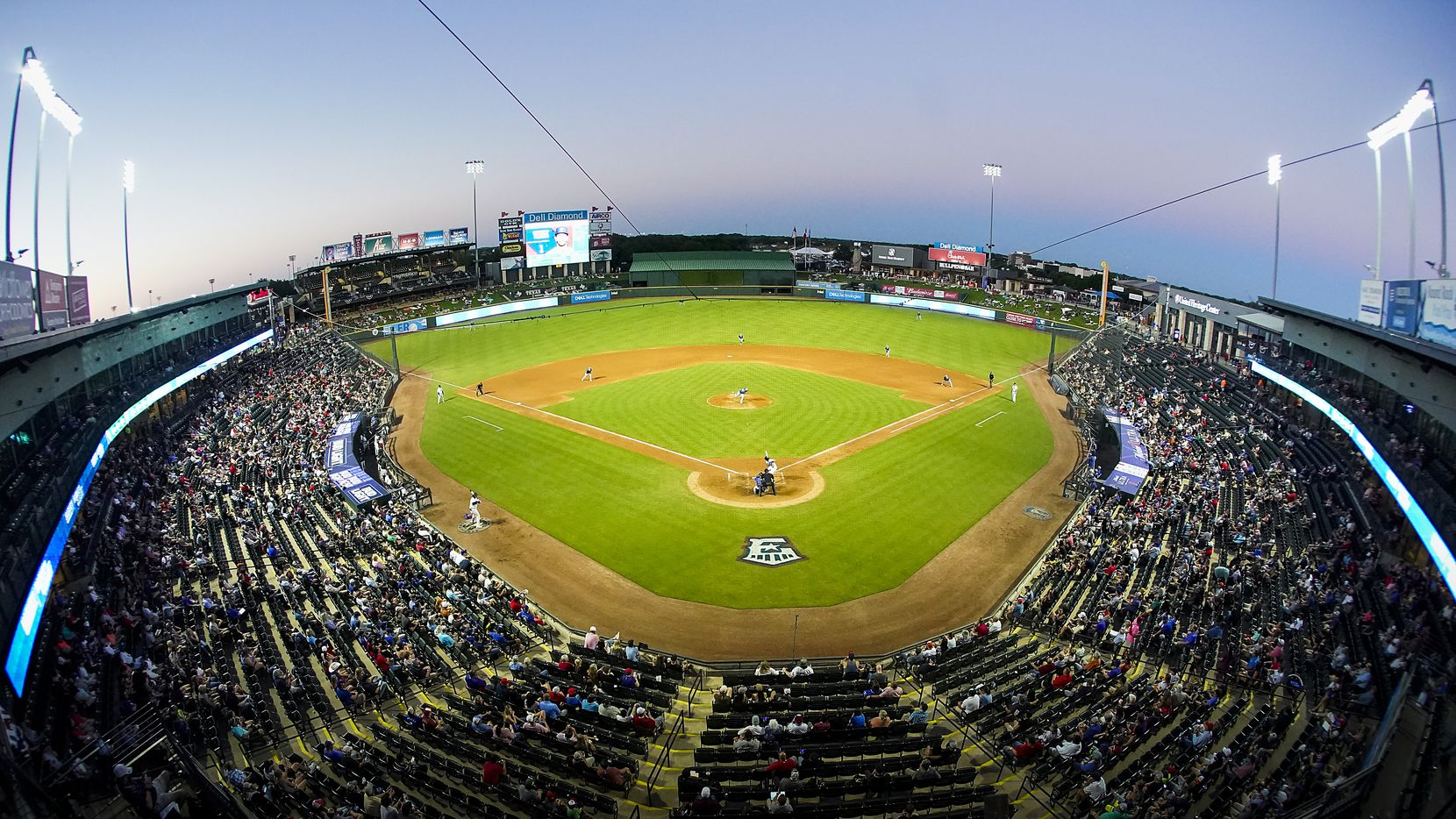 The Round Rock Express facd the Oklahoma City Dodgers in the season opener at Dell Diamond on Thursday, May 6, 2021, in Round Rock, Texas.