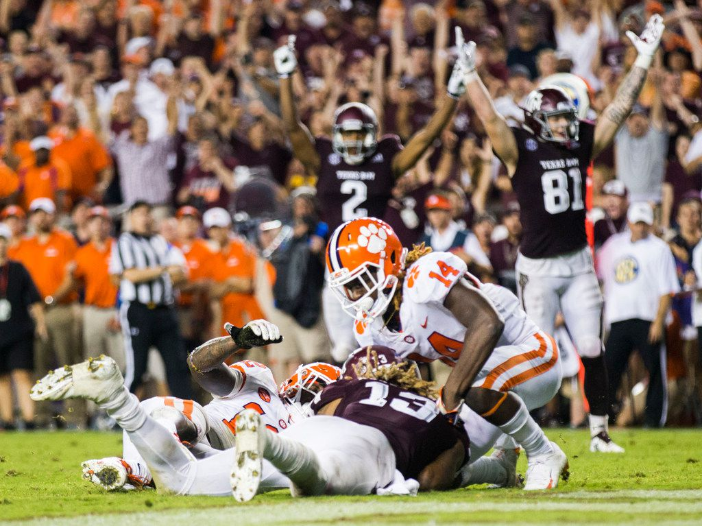 Texas A&M almost upset Clemson in a memorable non-conference clash last season. Can the Aggies give the Tigers another scare on Saturday? (Ashley Landis/The Dallas Morning News)