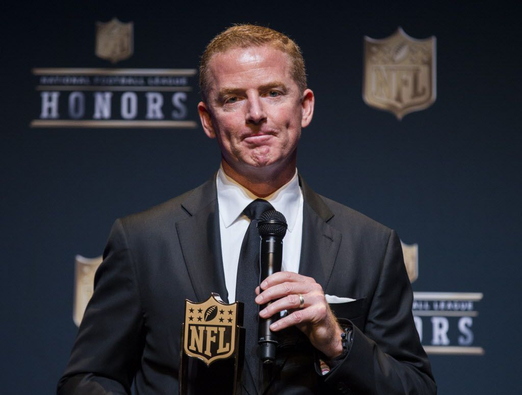 Dallas Cowboys Head Coach Jason Garrett speaks to media after winning the AP Coach of the Year award at the NFL Honors event at the Wortham Theater Center on Friday, February 4, 2017 in Houston. The event is in advance of Super Bowl LI. (Ashley Landis/The Dallas Morning News)