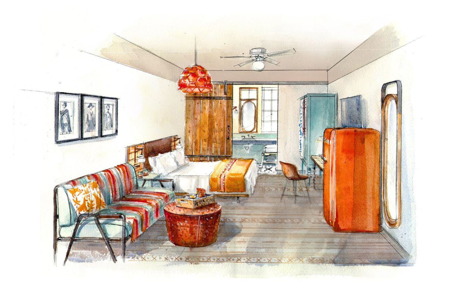 The Texican Court hotel in Irving will have interiors with a Texas and Southwestern style.