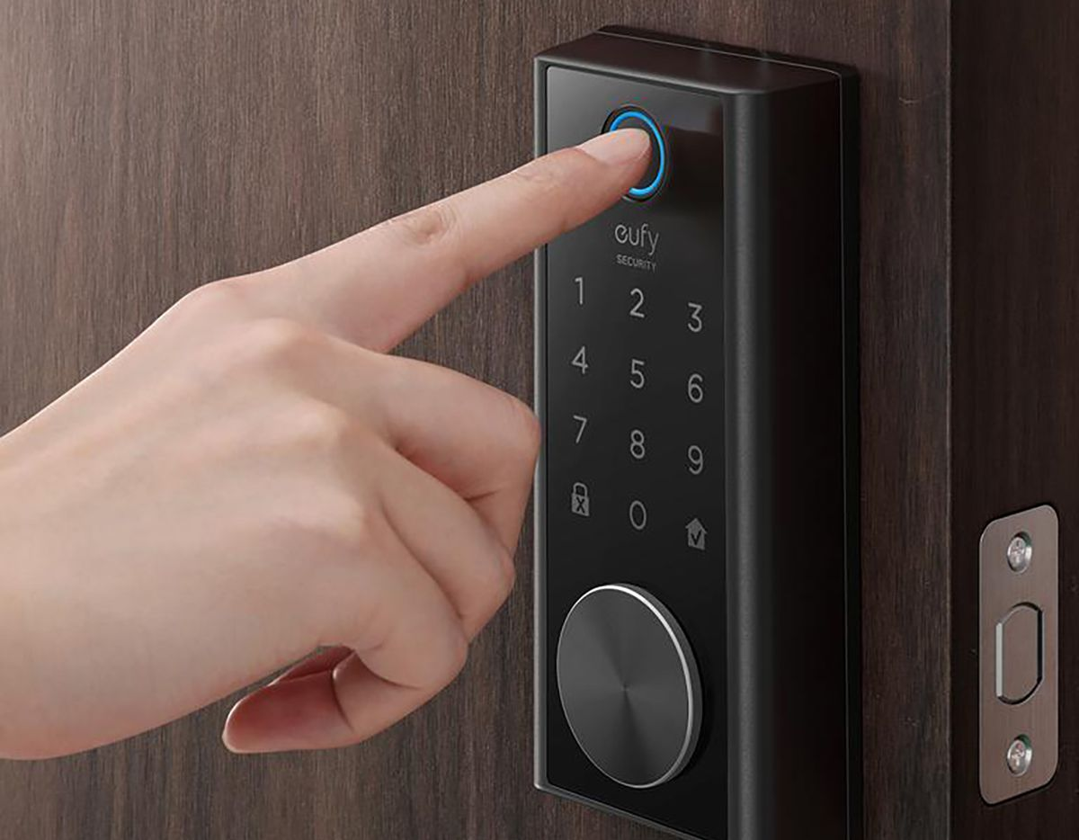 The Eufy Smart Lock Touch can open with a fingerprint, passcode, key or app.