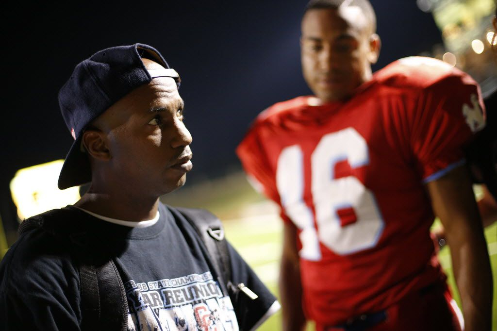 """Writer, director and former Carter High School football player Arthur Muhammad works on the set of """"Carter High."""""""