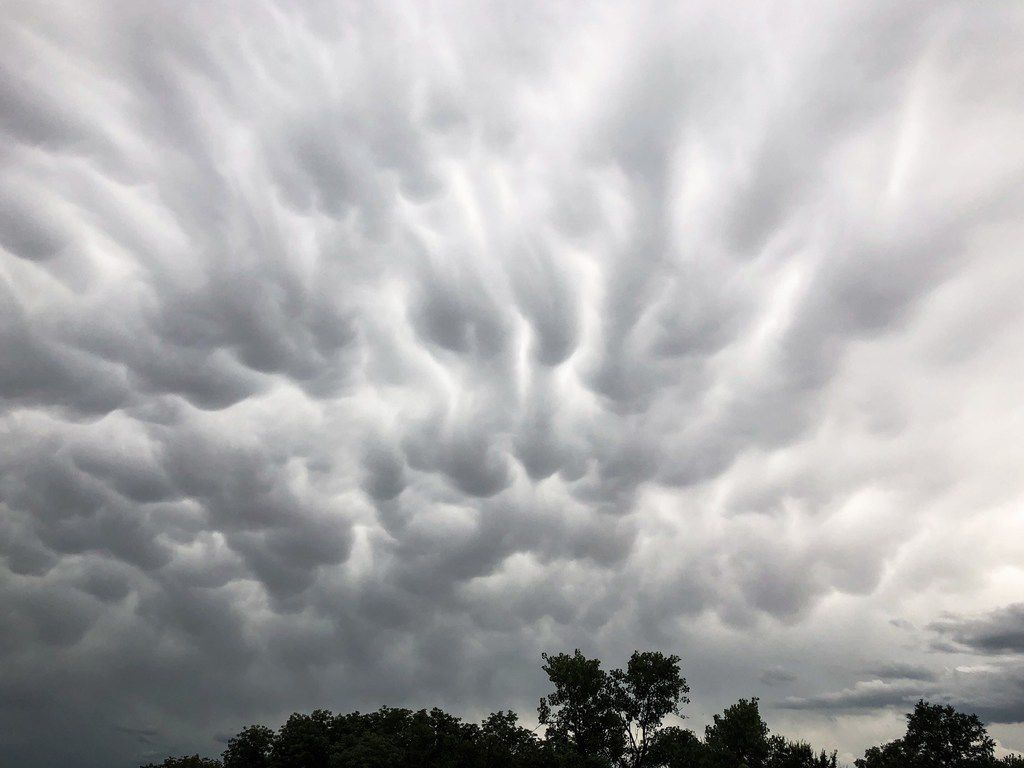Clouds roll over east Dallas following thunderstorms Sunday, June 16, 2019.