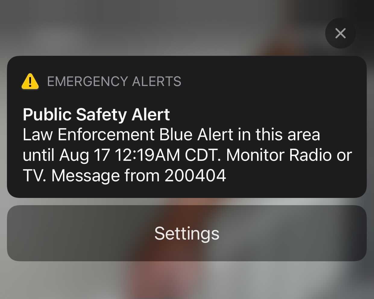 Blue Alert en Texas. Este es el mensaje que recibieron por texto los usuarios de telefonía celular del estado, cerca de la medianoche del 16 de agosto de 2021.