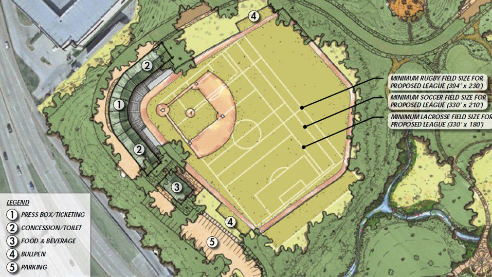 This is how Donnie Nelson's group was proposing to remake Reverchon Park's ballpark. Was.