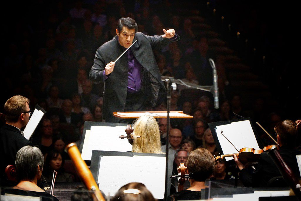 Miguel Harth-Bedoya directed the Fort Worth Symphony Orchestra on opening night of the season at Bass Performance Hall on Sept. 13, 2019.