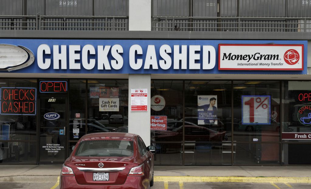 MoneyGram located inside of Cliffs Check Cashing location # 11 at 2525 Inwood Rd. in Dallas. Photo taken Tuesday, May 16, 2017. (David Woo/The Dallas Morning News)