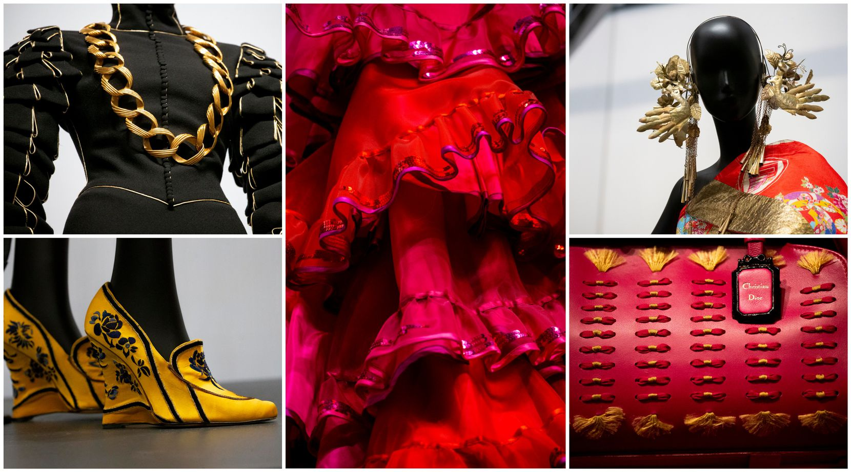 Some of the works in the show designed by John Galliano for Christian Dior.