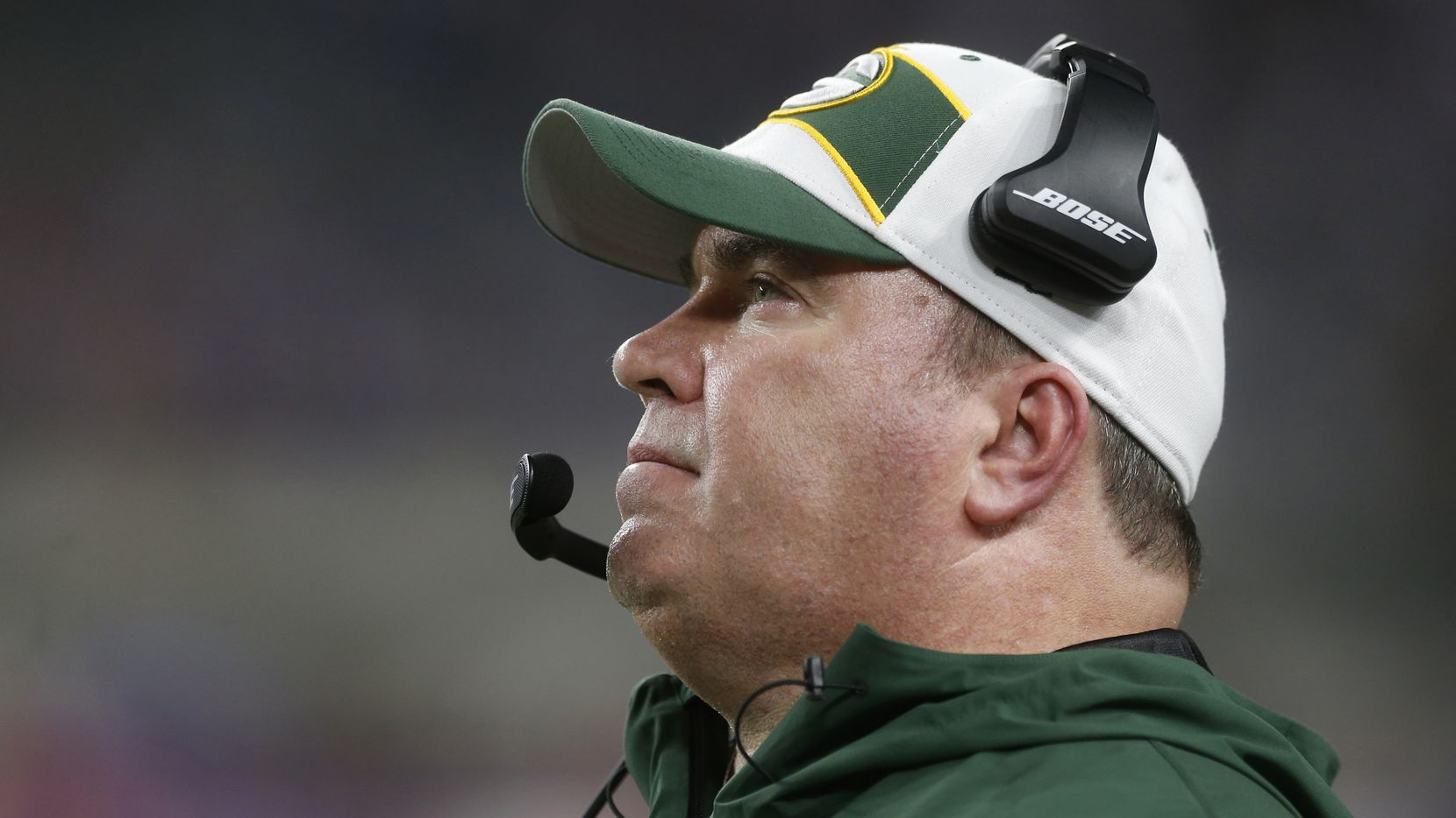 FILE - Green Bay Packers head coach Mike McCarthy watches from the sideline during the second half of an NFL football game against the Minnesota Vikings, Sunday, Nov. 25, 2018, in Minneapolis. (AP Photo/Jim Mone)