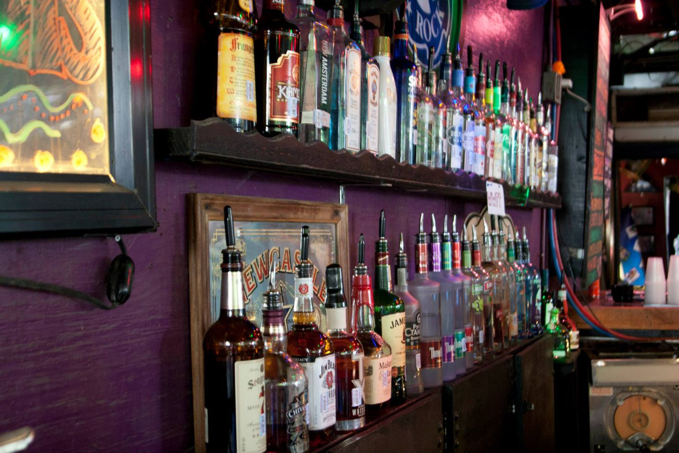 The Grapevine features a full bar, frozen cocktails and local beer on tap.