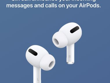 Siri can announce your calls and texts over the phone or even AirPods.