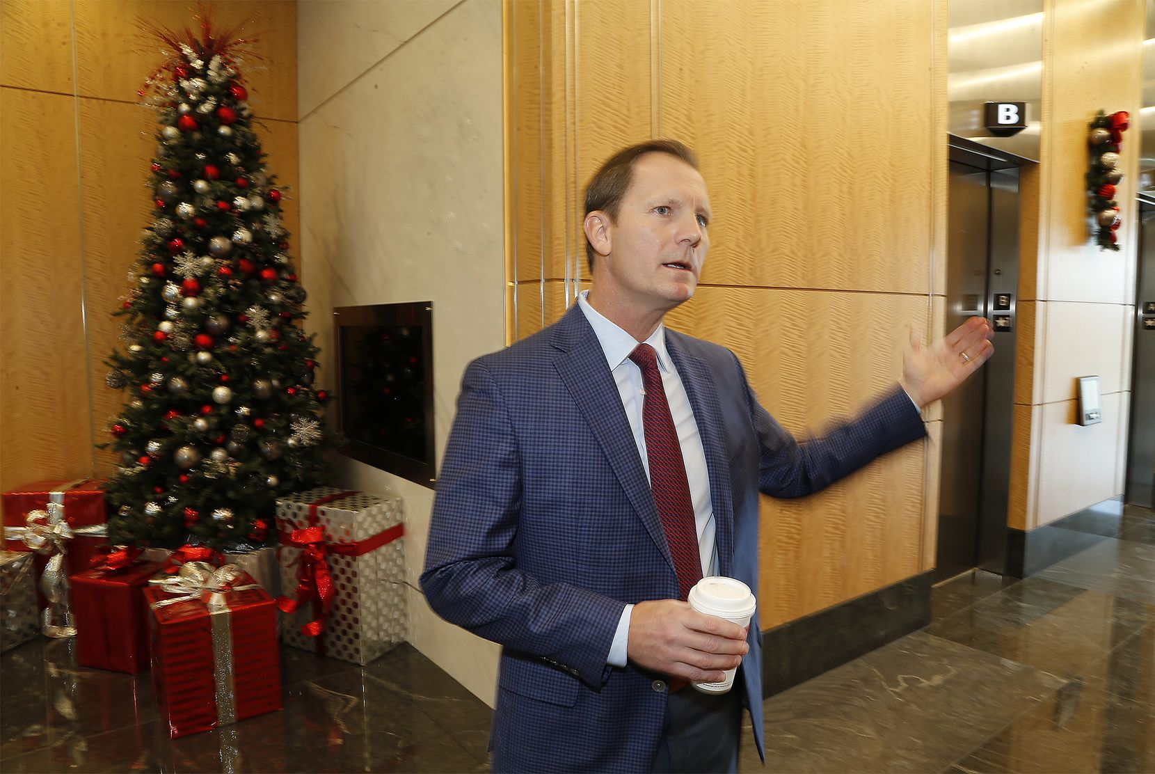 Geoff Meyer, executive vice president for VanTrust Real Estate LLC, at Frisco Station, which is opening its first phase.