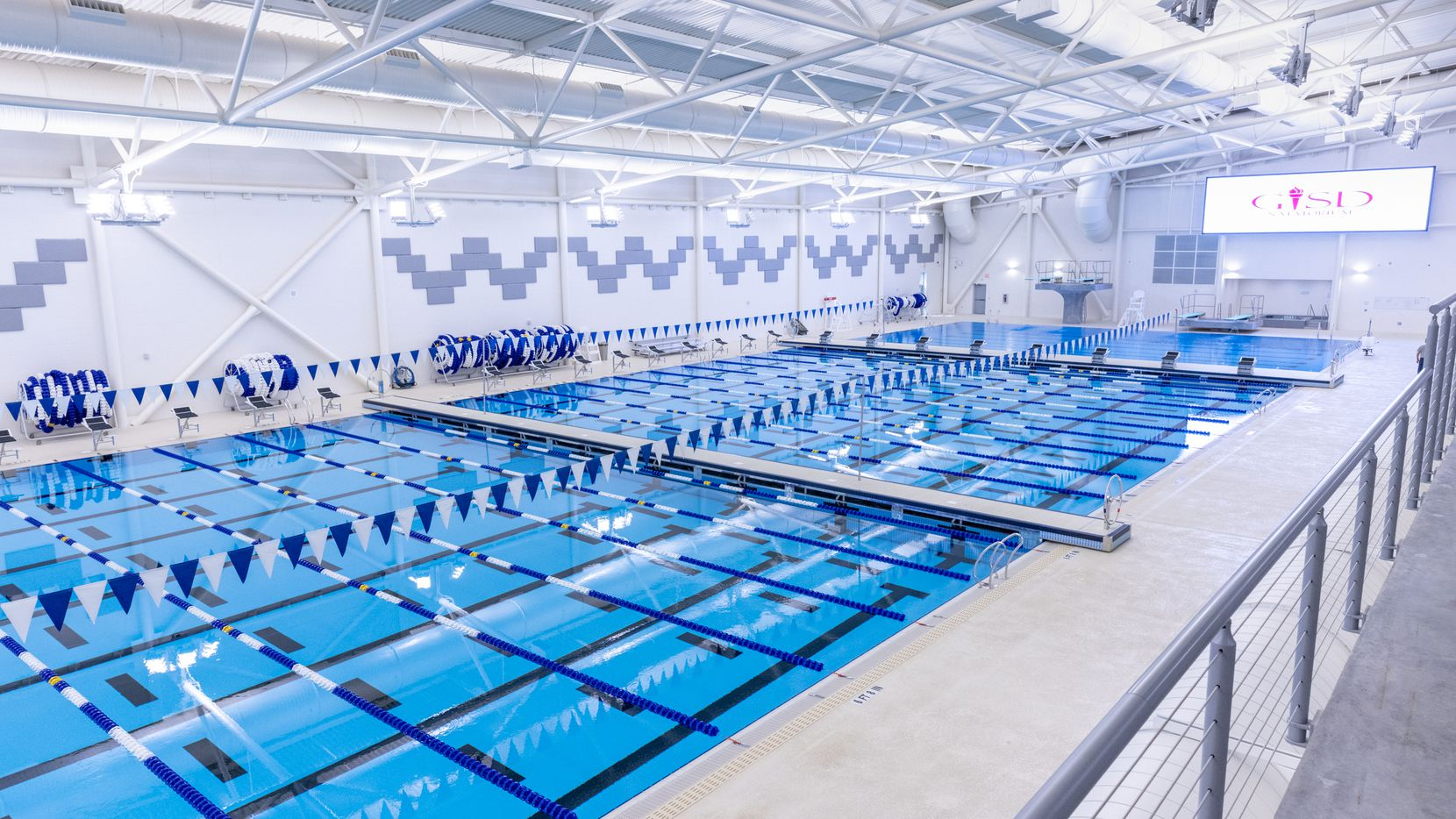 Construction on the Garland ISD Natatorium was completed in November 2020.