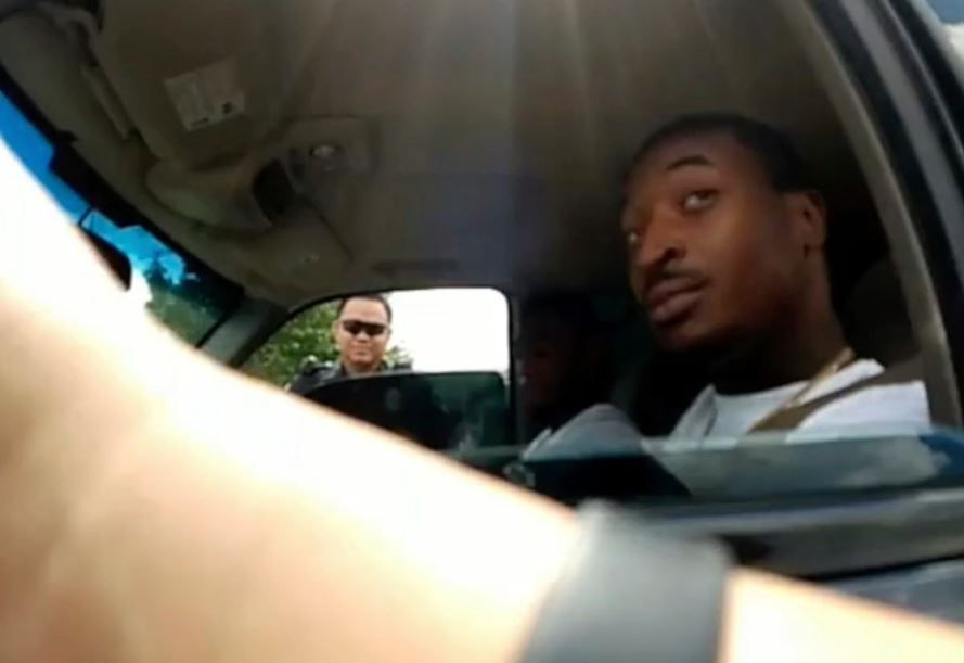 Body-cam footage from the officer who initiated the traffic stop shows O'Shae Terry and Officer Bau Tran.