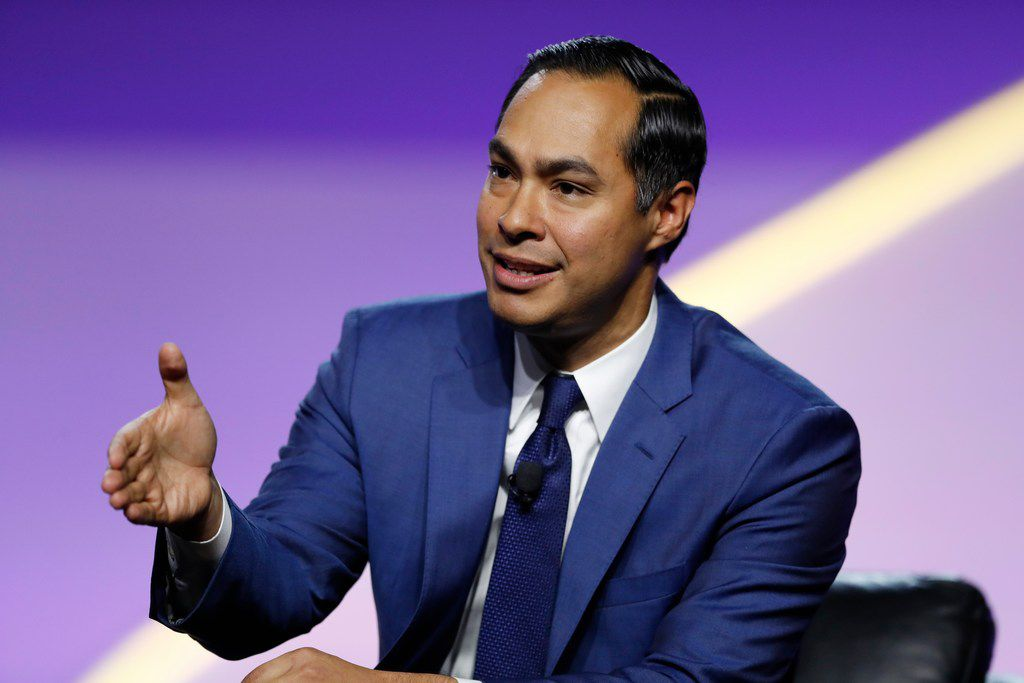 Julian Castro, Democratic presidential candidate and former secretary of Housing and Urban Development, speaks during a candidates forum at the 110th NAACP national convention on July 24, 2019, in Detroit.