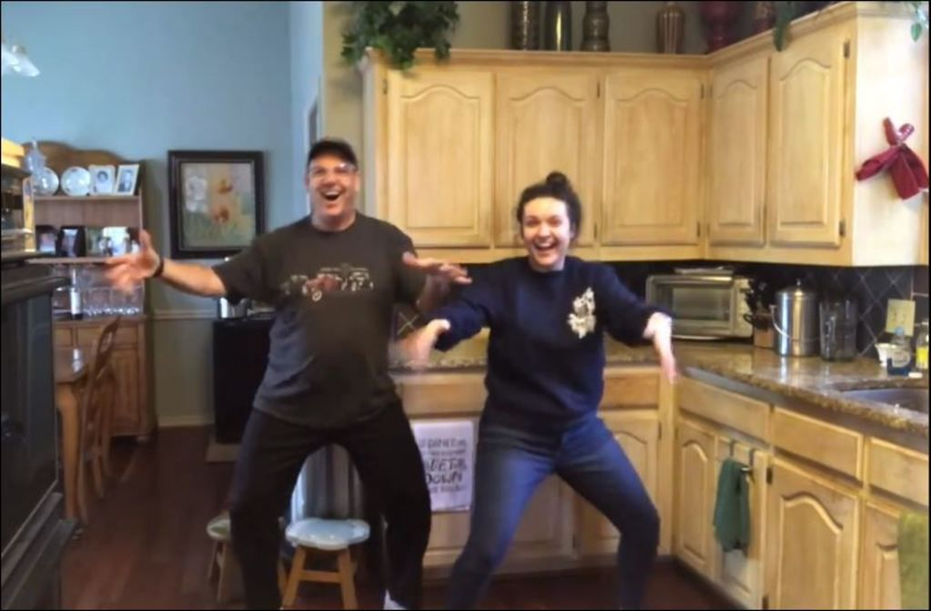 Michael Hoffman and his daughter Ali performed a lip-synch dance in their Carrollton kitchen at the start of quarantine. In less than a week, the video garnered more than 8 million views on Facebook. It makes people happy.