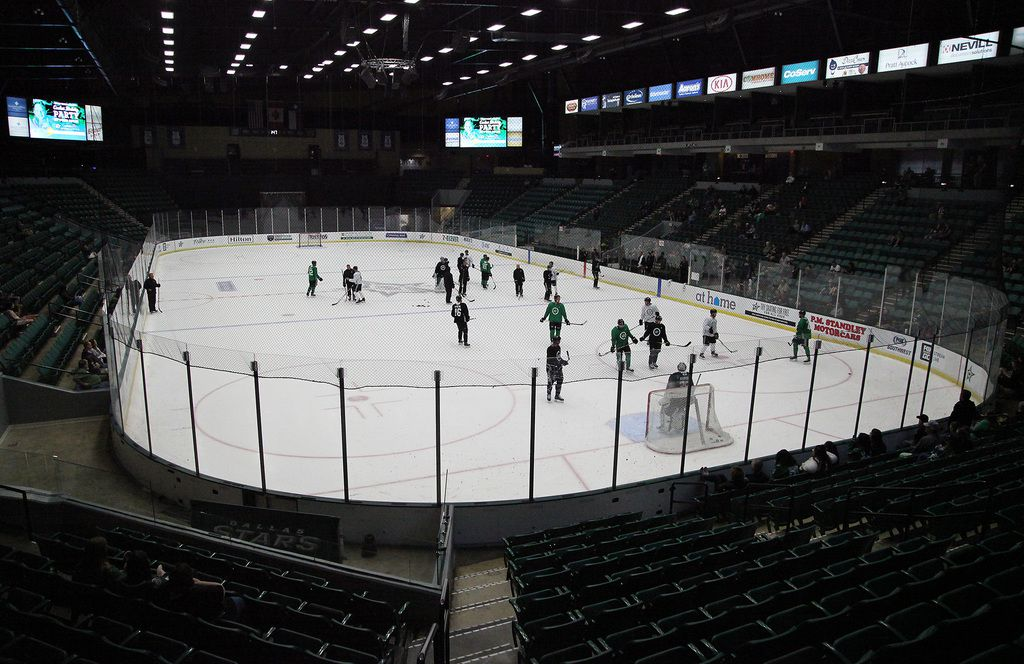 The Dallas Stars training camp held practice sessions at the Comerica Center in Frisco on Friday, September 13, 2019.