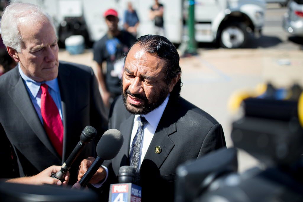 President Donald Trump on Monday blasted an effort by Houston Rep. Al Green to push for impeachment..