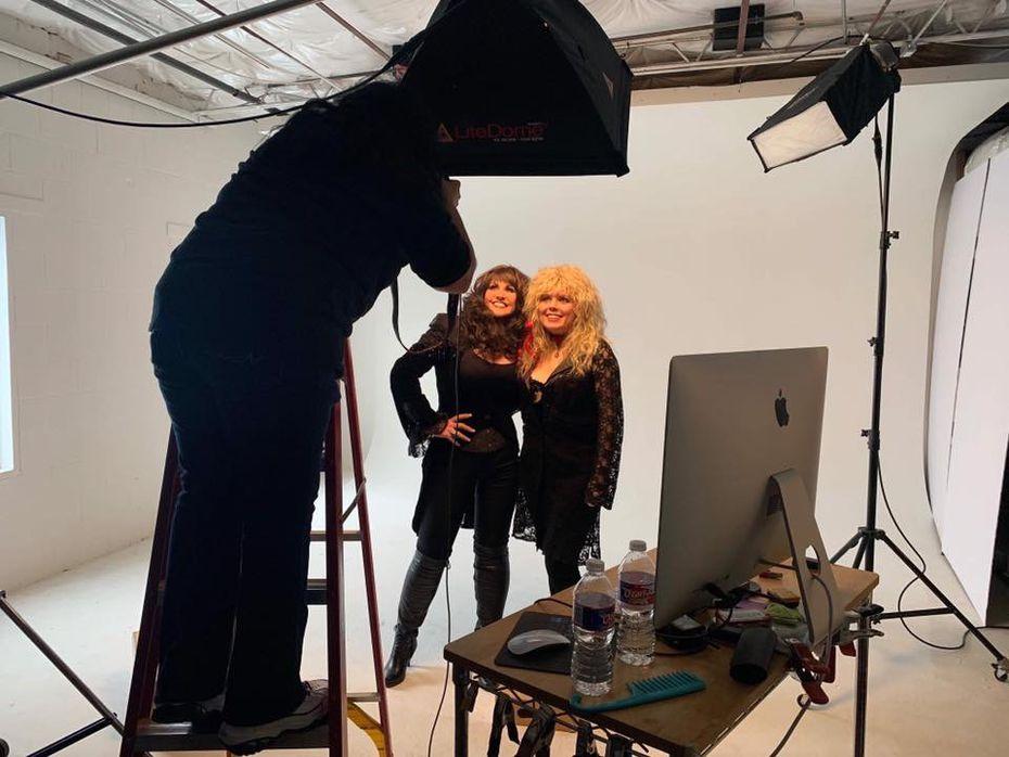 Subjects pose for photographer Debra Gloria.