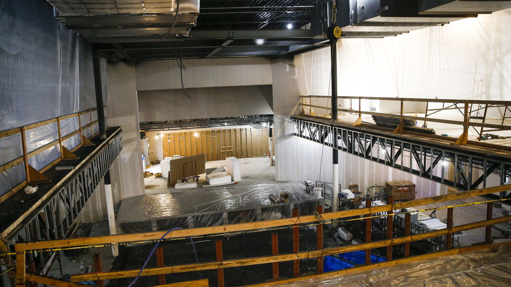 Construction crews work at new Live Nation concert venue The HiFi Dallas, which is set to open in Dallas' Design District in May.