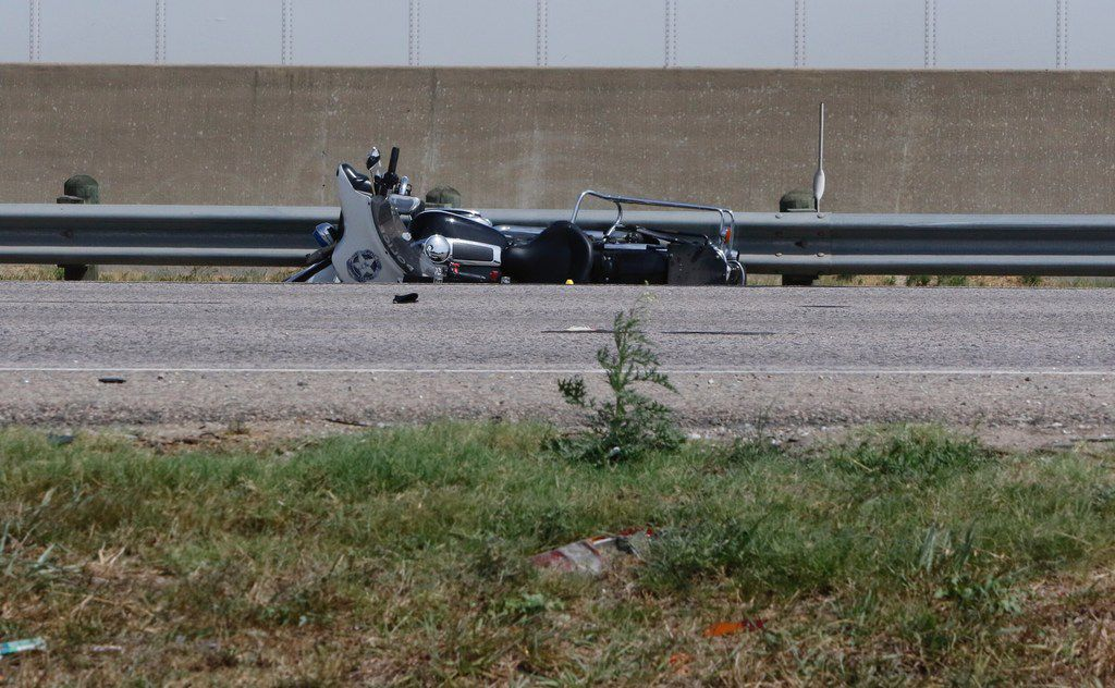 A Dallas police officer on a motorcycle was killed Saturday in a crash with an SUV on Interstate 20. The crash about 6 a.m. closed all eastbound lanes on the interstate, near Bonnie View Road, KXAS-TV (NBC5) reported.