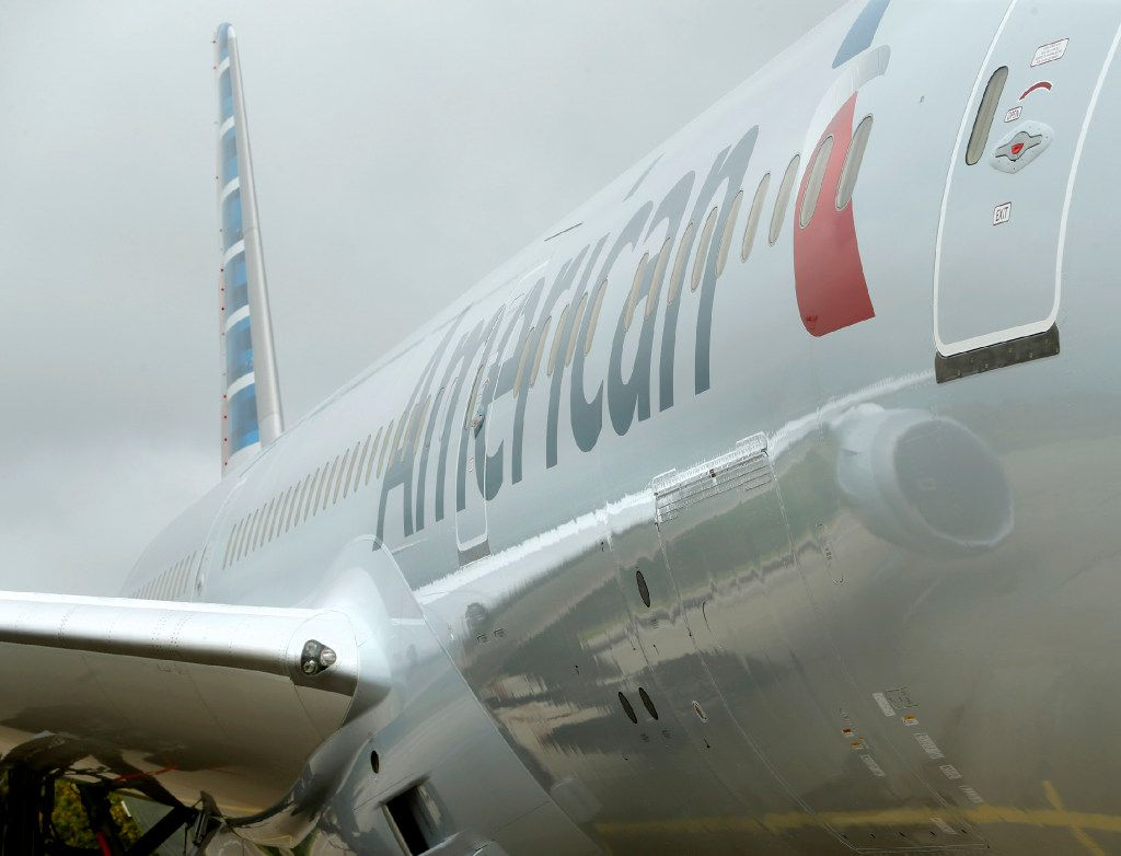 The American Airlines new 787-9 Dreamliner at DFW Airport on Nov. 3, 2016.  (Nathan Hunsinger/The Dallas Morning News)