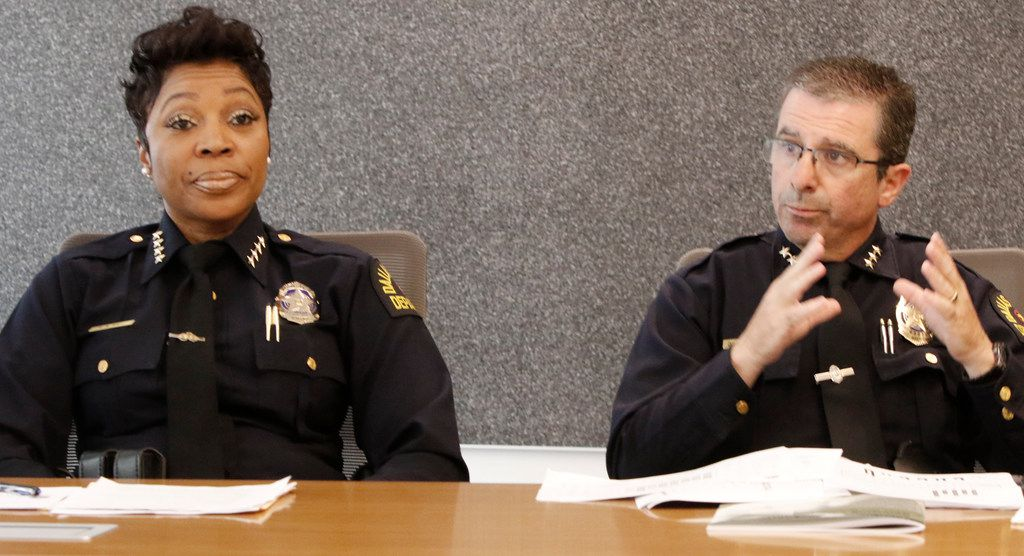 Police Chief U. Renee Hall and Assistant Chief David Pughes talked to The Dallas Morning News editorial board earlier this month.