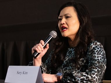 Sery Kim answers questions during a forum for Republican candidates running in the 6th Congressional District of Texas race in Arlington on Wednesday, March 31, 2021. (Juan Figueroa/ The Dallas Morning News)