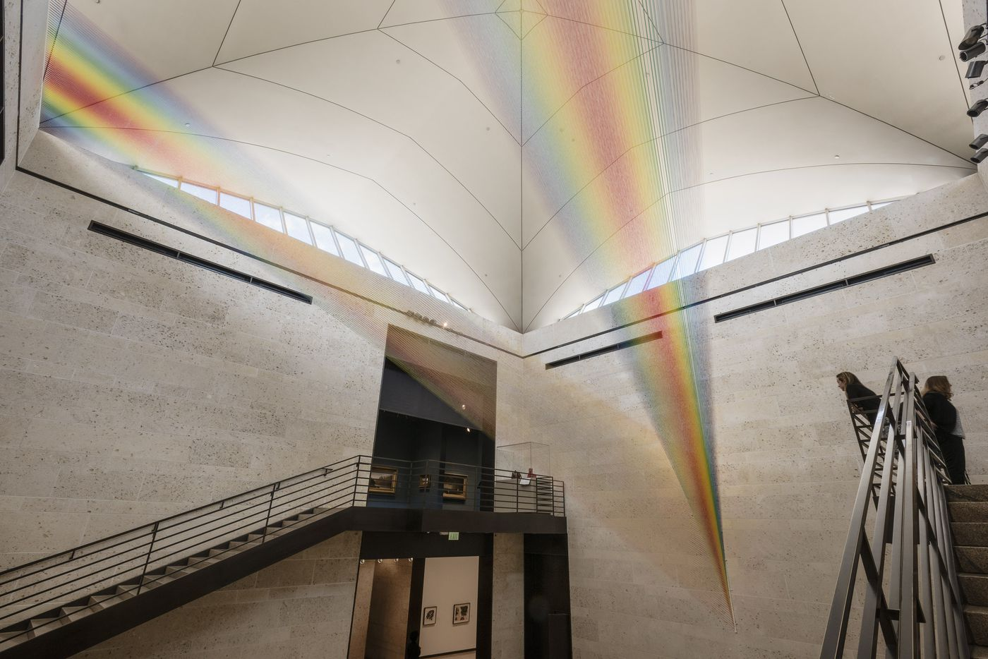 Plexus 34 by Gabriel Dawe, installed at the Amon Carter Museum of American Art, August 2016.