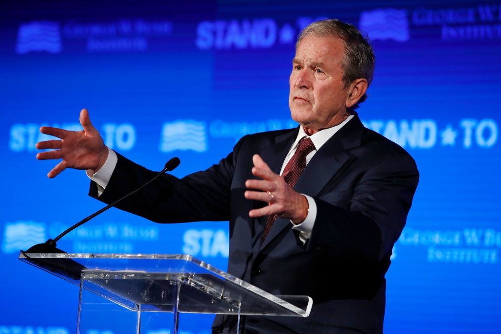 Former President George W. Bush is hosting fundraisers for select Republican candidates, including a couple of vulnerable GOP congressmen in his home state of Texas, according to Politico.