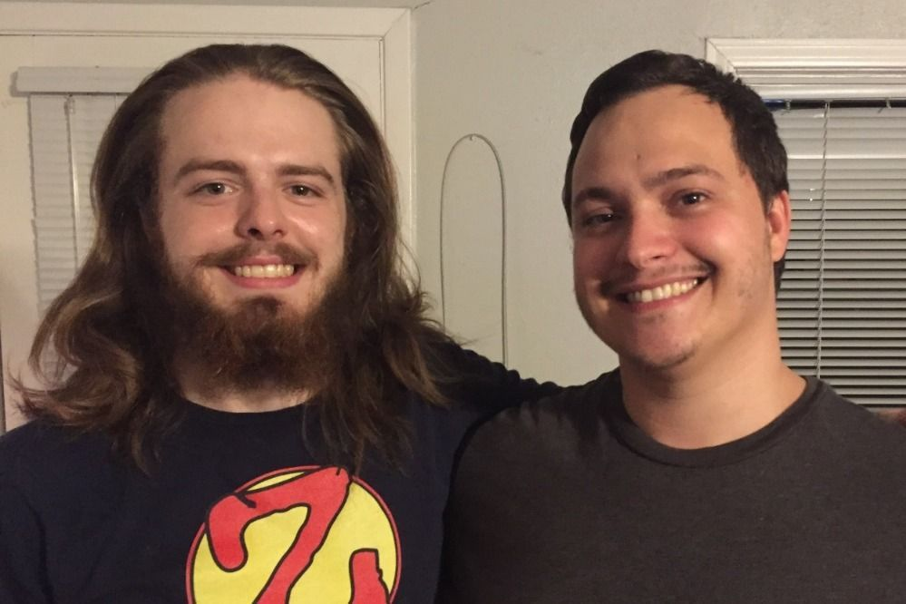 Jacoby Stoneking (left) and his brother Chris Phillips