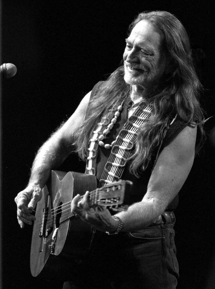 Country Western singer and songwriter  Willie Nelson performs on the Miller Lite stage at the Sate Fair Of Texas in 1992.