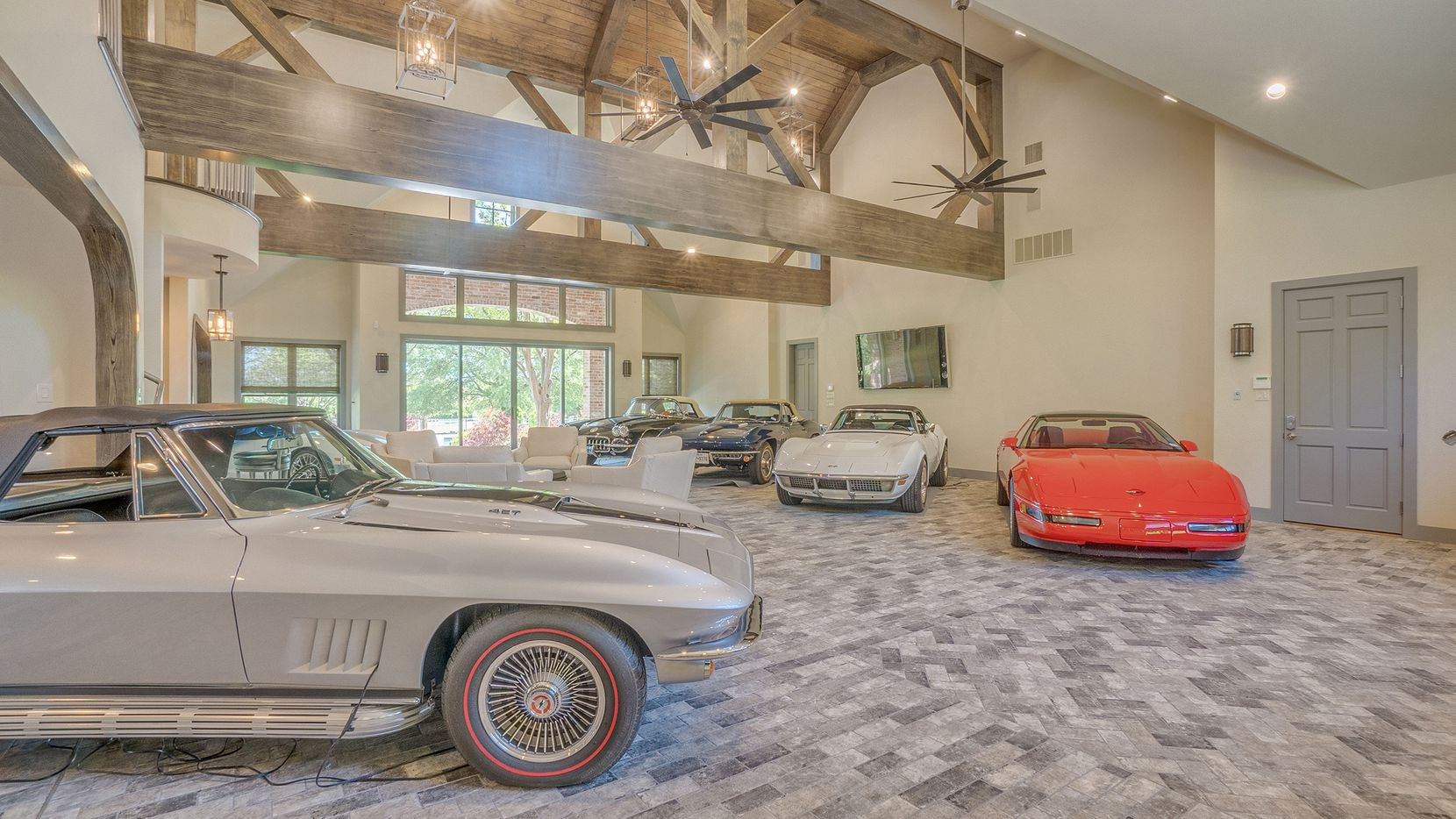 The residence at 7 Riva Ridge in Frisco includes a 16-plus-vehicle garage that is climate-controlled, converts into a showroom and has guest quarters.