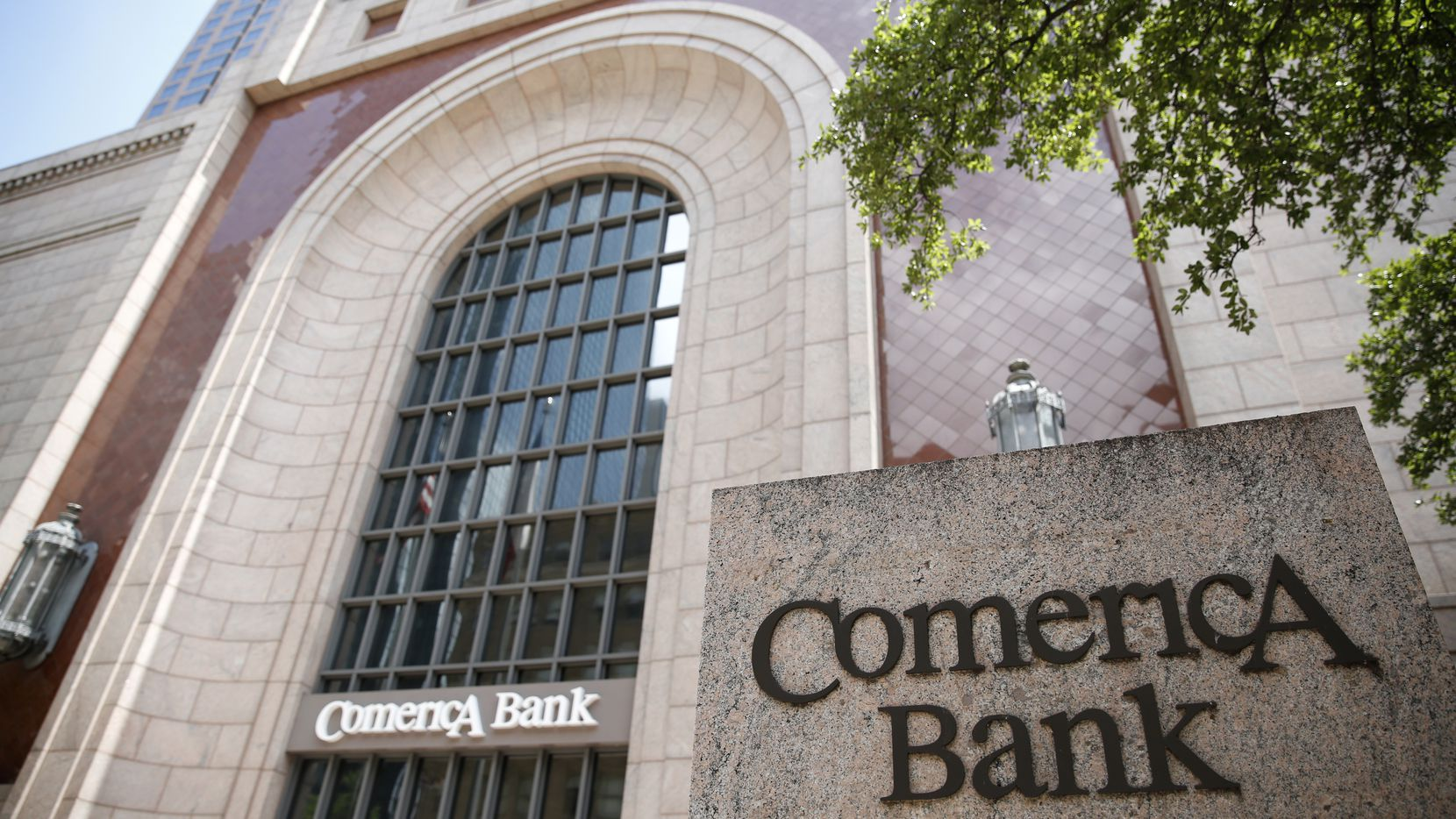 Comerica Bank Tower in downtown Dallas is pictured. The bank has partnered with the Dallas Black Chamber of Commerce in a four-week camp to help people start or maintain their own business.