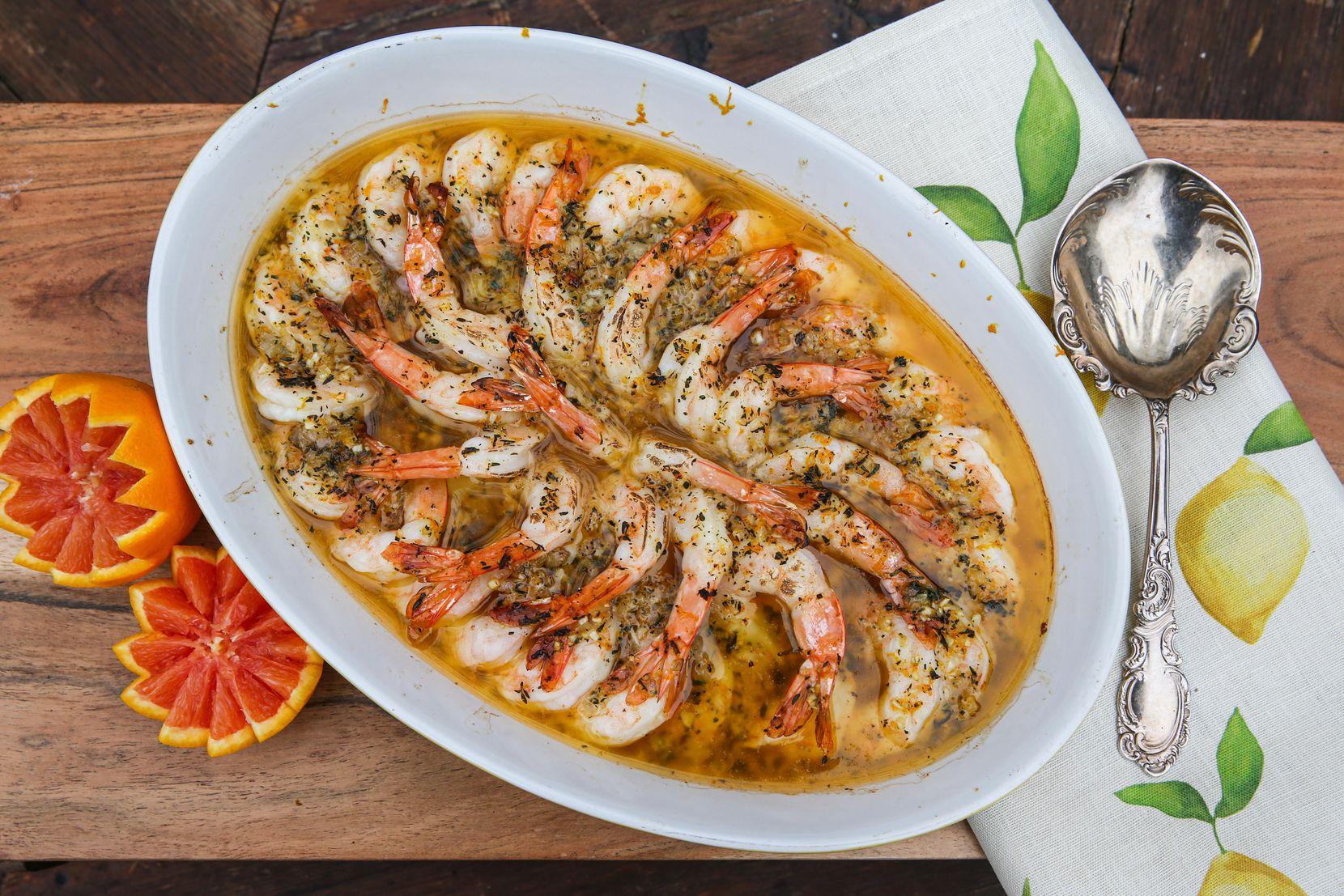 Gulf Shrimp With Texas Cara Cara Oranges