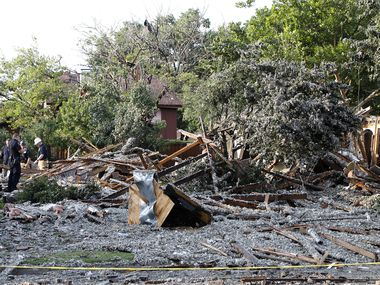 A home exploded in the 4400 block of Cleveland Drive in Plano on Monday afternoon.