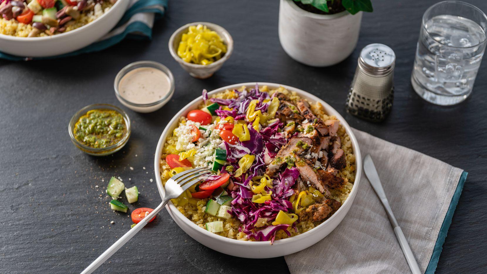 Roti Modern Mediterranean sells salads, bowls and pitas.