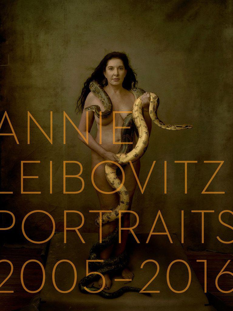 Marina Abramović on the cover of Annie Leibovitz: Portraits 2005-2016.