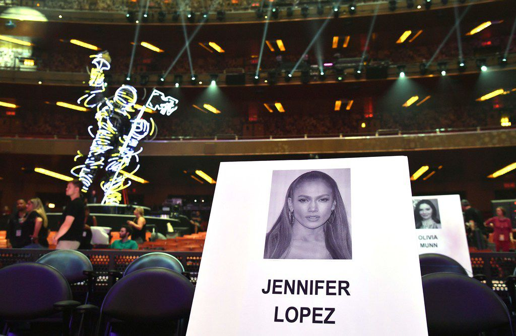 Yep, that's where Jennifer Lopez will sit during the 2018 MTV Video Music Awards at Radio City Music Hall in New York on Aug. 20, 2018.