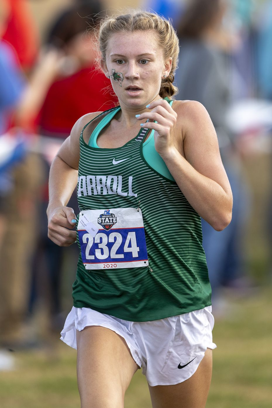 Southlake Carroll�s Kaylie Cox (2324) finishes sixth in the girls UIL Class 6A state cross country meet in Round Rock, Tuesday, Nov., 24, 2019. (Stephen Spillman/Special Contributor)