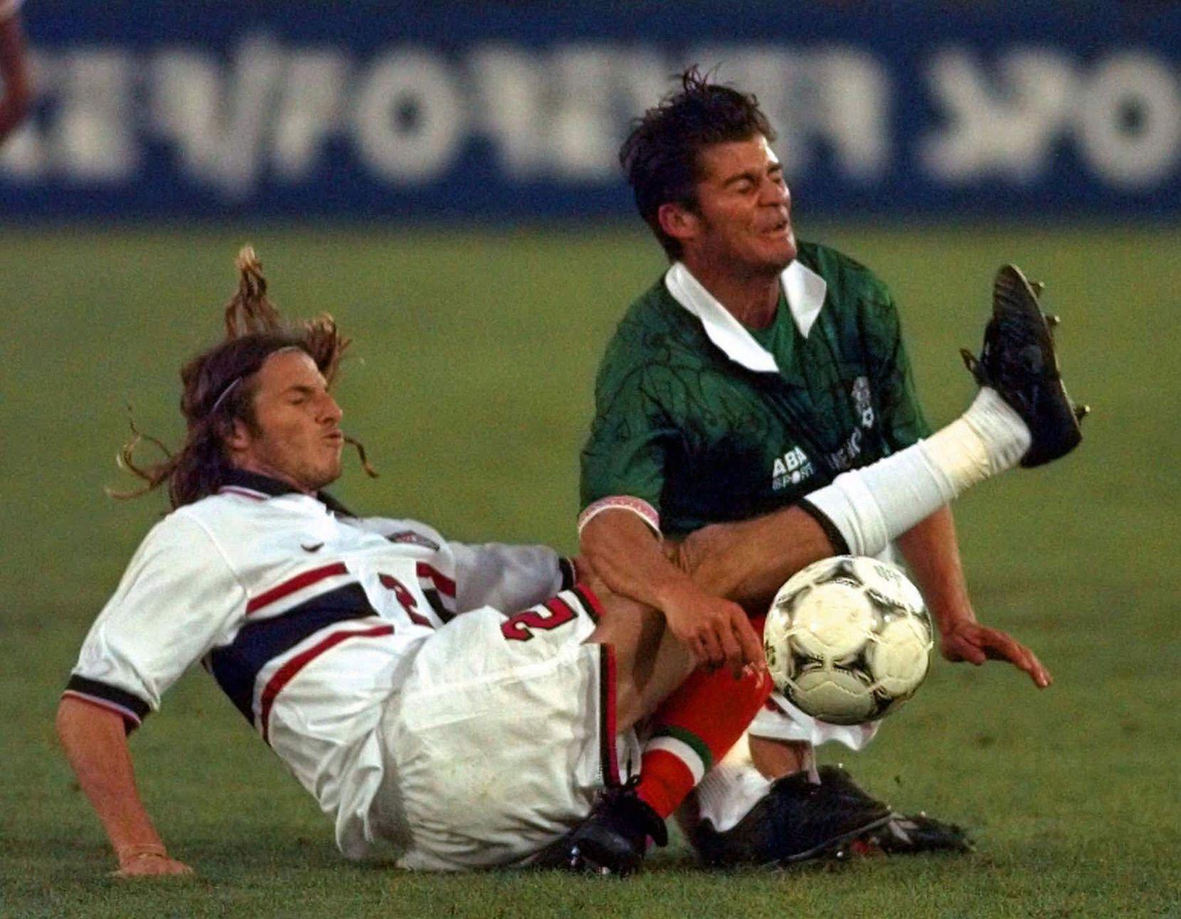 Ramírez y el Tri durante el Mundial de 1998. (AP Photo/Nick Ut)