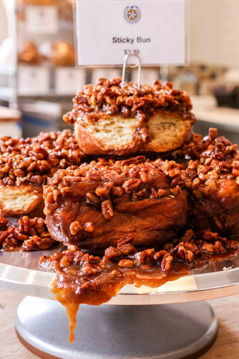 Sticky buns are one of several sweet treats at Empire Baking Company in East Dallas.