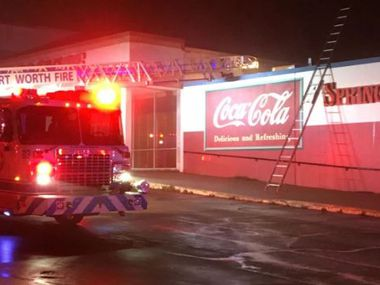 Fort Worth firefighters arrived around 4:40 a.m. Thursday to find a Spring Creek Barbeque restaurant on fire.